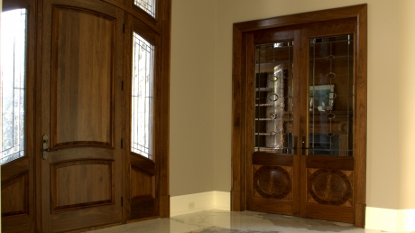 ParkerHouse Custom Furniture and Cabinetry, Waterloo Project Featuring Walnut Doors